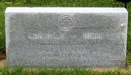 BEST, GEORGE WILLIAM - Dundy County, Nebraska   GEORGE WILLIAM BEST - Nebraska Gravestone Photos