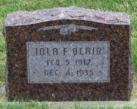 BLAIR, IOLA F. - Dundy County, Nebraska | IOLA F. BLAIR - Nebraska Gravestone Photos