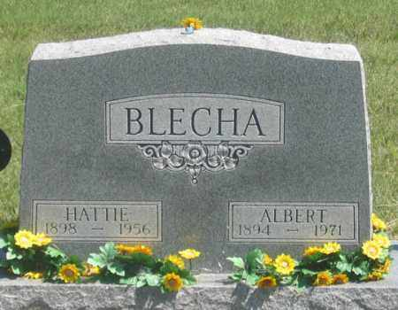BLECHA, HATTIE - Dundy County, Nebraska | HATTIE BLECHA - Nebraska Gravestone Photos