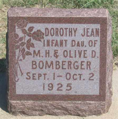 BOMBERGER, DOROTHY JEAN - Dundy County, Nebraska   DOROTHY JEAN BOMBERGER - Nebraska Gravestone Photos