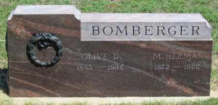 BOMBERGER, OLIVE D. - Dundy County, Nebraska | OLIVE D. BOMBERGER - Nebraska Gravestone Photos