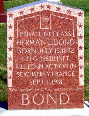 BOND, HERMAN L. - Dundy County, Nebraska | HERMAN L. BOND - Nebraska Gravestone Photos