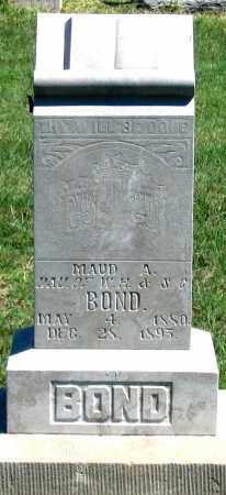BOND, MAUD A. - Dundy County, Nebraska | MAUD A. BOND - Nebraska Gravestone Photos