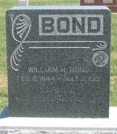 BOND, WILLIAM H. - Dundy County, Nebraska | WILLIAM H. BOND - Nebraska Gravestone Photos