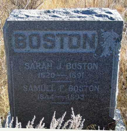 BOSTON, SAMUEL F. - Dundy County, Nebraska | SAMUEL F. BOSTON - Nebraska Gravestone Photos