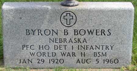 BOWERS, BYRON B. - Dundy County, Nebraska | BYRON B. BOWERS - Nebraska Gravestone Photos
