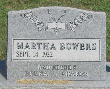 BOWERS, MARTHA - Dundy County, Nebraska | MARTHA BOWERS - Nebraska Gravestone Photos