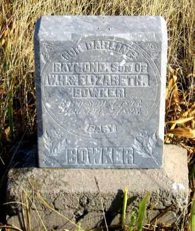 BOWKER, RAYMOND - Dundy County, Nebraska   RAYMOND BOWKER - Nebraska Gravestone Photos