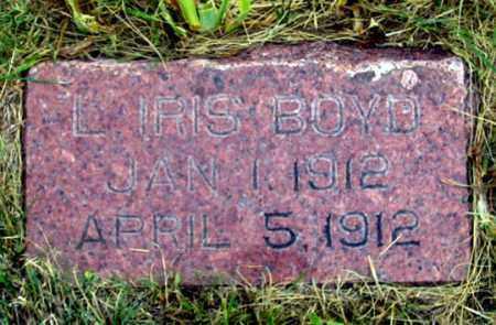 BOYD, LILLIAN IRIS - Dundy County, Nebraska   LILLIAN IRIS BOYD - Nebraska Gravestone Photos