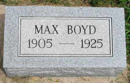 BOYD, MAX HORACE - Dundy County, Nebraska | MAX HORACE BOYD - Nebraska Gravestone Photos