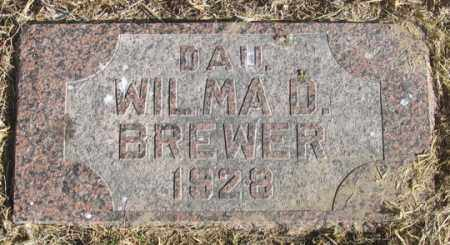 BREWER, WILMA D. - Dundy County, Nebraska   WILMA D. BREWER - Nebraska Gravestone Photos