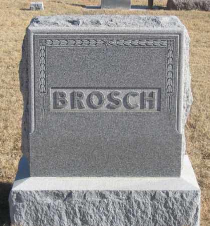 BROSCH, FAMILY HEADSTONE - Dundy County, Nebraska   FAMILY HEADSTONE BROSCH - Nebraska Gravestone Photos