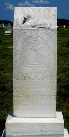 BROWN, ALICE IRENE - Dundy County, Nebraska | ALICE IRENE BROWN - Nebraska Gravestone Photos