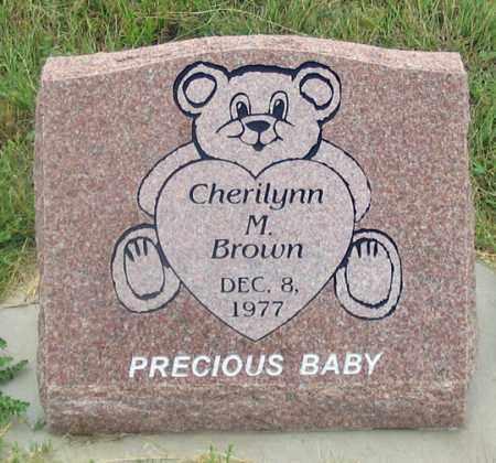 BROWN, CHERILYNN M. - Dundy County, Nebraska   CHERILYNN M. BROWN - Nebraska Gravestone Photos