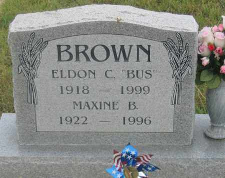 "BROWN, ELDON C. ""BUS"" - Dundy County, Nebraska | ELDON C. ""BUS"" BROWN - Nebraska Gravestone Photos"