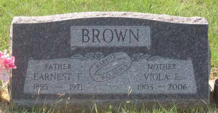BROWN, VIOLA F. - Dundy County, Nebraska | VIOLA F. BROWN - Nebraska Gravestone Photos