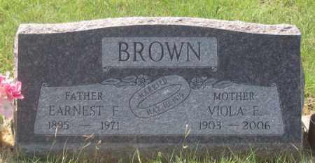 BROWN, VIOLA F. - Dundy County, Nebraska | VIOLA F. BROWN - Nebraska Gravestone Photos