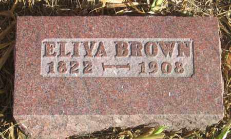 BROWN, ELIVA - Dundy County, Nebraska | ELIVA BROWN - Nebraska Gravestone Photos