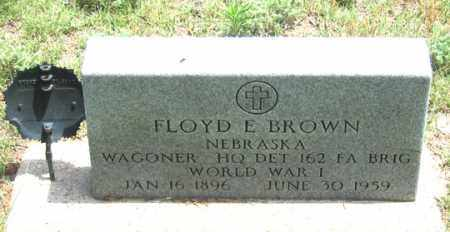 BROWN, FLOYD E. - Dundy County, Nebraska | FLOYD E. BROWN - Nebraska Gravestone Photos