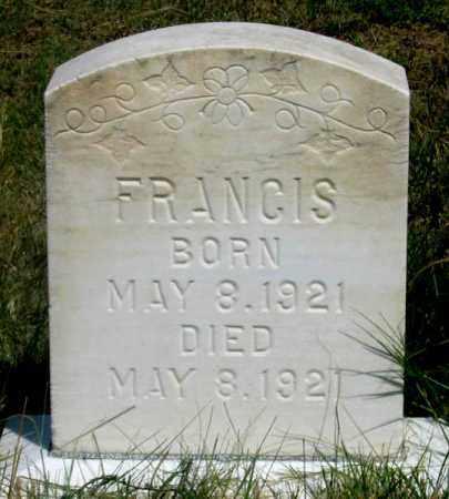 BROWN, FRANCIS - Dundy County, Nebraska | FRANCIS BROWN - Nebraska Gravestone Photos