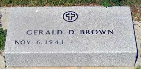 BROWN, GERALD D. - Dundy County, Nebraska | GERALD D. BROWN - Nebraska Gravestone Photos