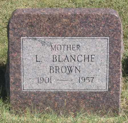 BROWN, L. BLANCHE - Dundy County, Nebraska | L. BLANCHE BROWN - Nebraska Gravestone Photos