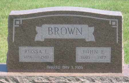 BROWN, JOHN E. - Dundy County, Nebraska | JOHN E. BROWN - Nebraska Gravestone Photos
