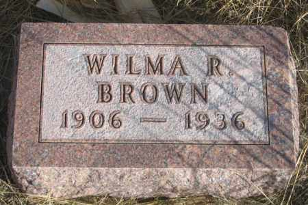 BROWN, WILMA R. - Dundy County, Nebraska | WILMA R. BROWN - Nebraska Gravestone Photos