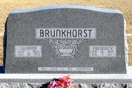 BRUNKHORST, JULIANNA - Dundy County, Nebraska | JULIANNA BRUNKHORST - Nebraska Gravestone Photos