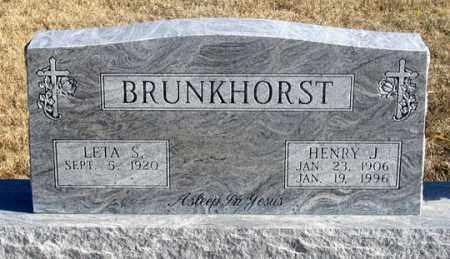 BRUNKHORST, HENRY J. - Dundy County, Nebraska | HENRY J. BRUNKHORST - Nebraska Gravestone Photos