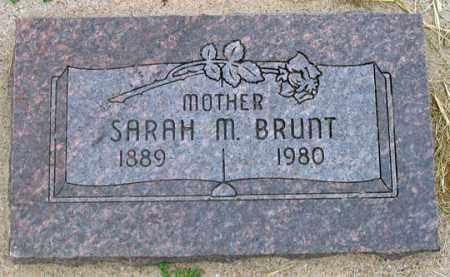 BRUNT, SARAH M. - Dundy County, Nebraska | SARAH M. BRUNT - Nebraska Gravestone Photos