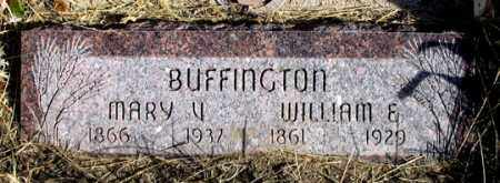 BUFFINGTON, MARY V. - Dundy County, Nebraska | MARY V. BUFFINGTON - Nebraska Gravestone Photos
