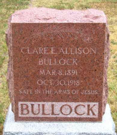 ALLISON BULLOCK, CLARE ELLA - Dundy County, Nebraska   CLARE ELLA ALLISON BULLOCK - Nebraska Gravestone Photos