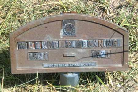 BUNNING, WILLARD M. - Dundy County, Nebraska   WILLARD M. BUNNING - Nebraska Gravestone Photos