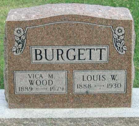 BURGETT, VICA M. WOOD - Dundy County, Nebraska | VICA M. WOOD BURGETT - Nebraska Gravestone Photos