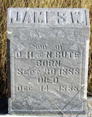 BUTE, JAMES W. - Dundy County, Nebraska   JAMES W. BUTE - Nebraska Gravestone Photos
