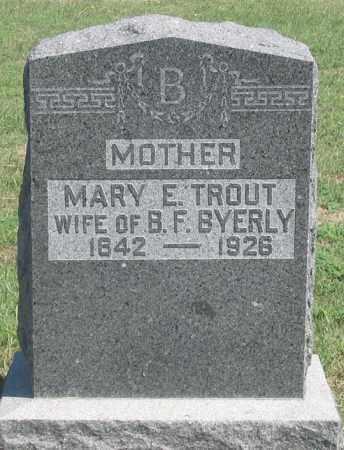 TROUT BYERLY, MARY E. - Dundy County, Nebraska | MARY E. TROUT BYERLY - Nebraska Gravestone Photos