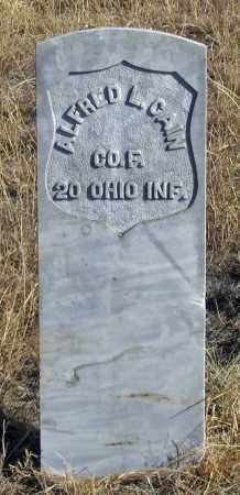 CAIN, ALFRED L. - Dundy County, Nebraska | ALFRED L. CAIN - Nebraska Gravestone Photos