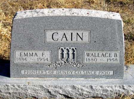 CAIN, EMMA F. - Dundy County, Nebraska | EMMA F. CAIN - Nebraska Gravestone Photos