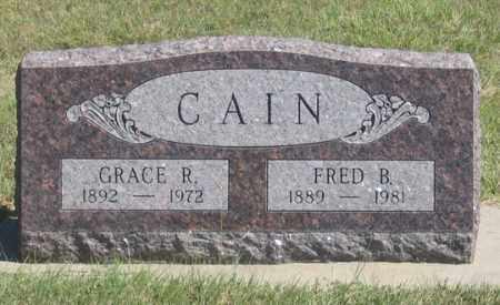 CAIN, GRACE R. - Dundy County, Nebraska | GRACE R. CAIN - Nebraska Gravestone Photos