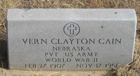 CAIN, VERN CLAYTON - Dundy County, Nebraska   VERN CLAYTON CAIN - Nebraska Gravestone Photos