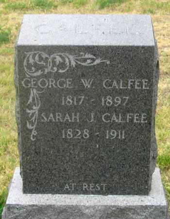 CALFEE, GEORGE WASHINGTON - Dundy County, Nebraska   GEORGE WASHINGTON CALFEE - Nebraska Gravestone Photos