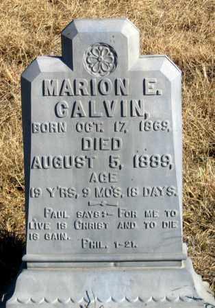 CALVIN, MARION E. - Dundy County, Nebraska | MARION E. CALVIN - Nebraska Gravestone Photos