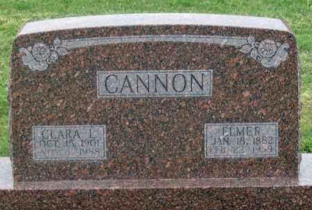 CANNON, ELMER - Dundy County, Nebraska | ELMER CANNON - Nebraska Gravestone Photos