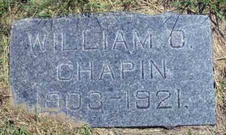 CHAPIN, WILLIAM O. - Dundy County, Nebraska | WILLIAM O. CHAPIN - Nebraska Gravestone Photos
