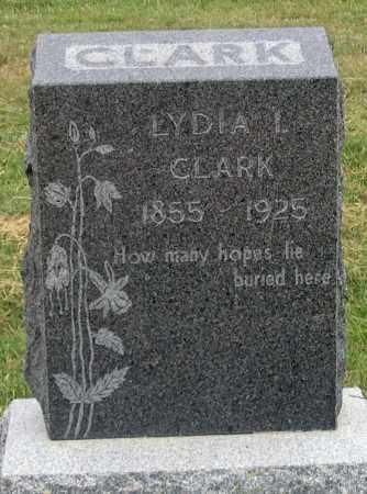 CLARK, LYDIA I. - Dundy County, Nebraska | LYDIA I. CLARK - Nebraska Gravestone Photos