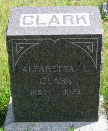 CLARK, ALFARETTA E. - Dundy County, Nebraska | ALFARETTA E. CLARK - Nebraska Gravestone Photos