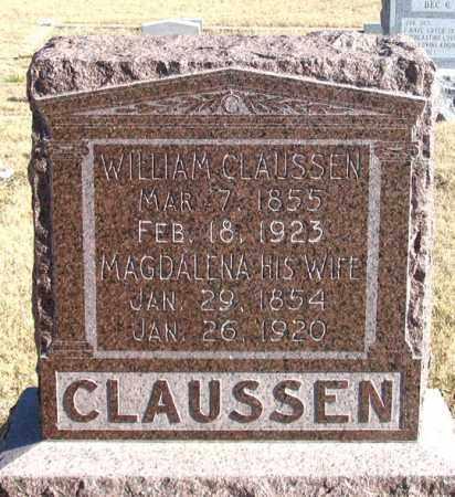 CLAUSSEN, WILLIAM - Dundy County, Nebraska | WILLIAM CLAUSSEN - Nebraska Gravestone Photos