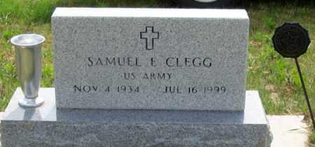 CLEGG, SAMUEL E. - Dundy County, Nebraska   SAMUEL E. CLEGG - Nebraska Gravestone Photos
