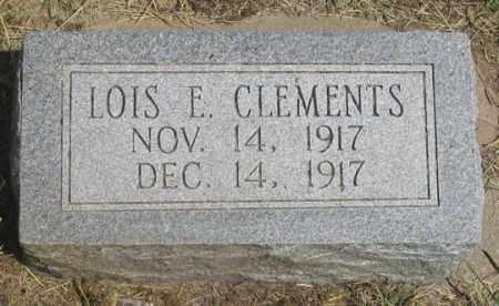 CLEMENTS, LOIS ELVA - Dundy County, Nebraska | LOIS ELVA CLEMENTS - Nebraska Gravestone Photos